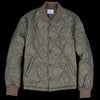 Save Khaki - Quilted Nylon Warm Up Bomber in Olive