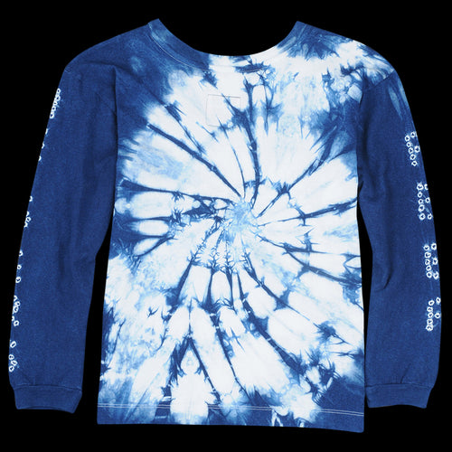"""Peer Helpers"" Long Sleeve Tee in Indigo"