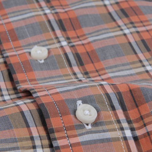 Plaid Key Collar Shirt in Frackville