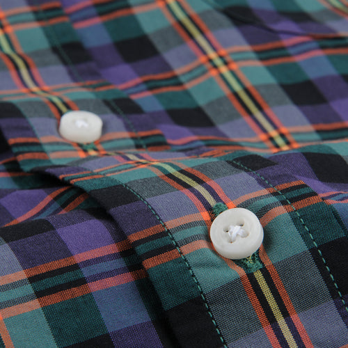 Plaid Key Collar Shirt in Shamokin