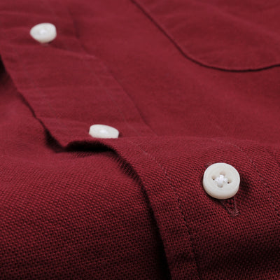 Gitman Vintage - Hopsack Button Down Shirt in Red