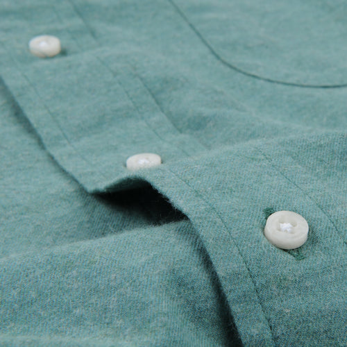 Flannel Button Down Shirt in Green