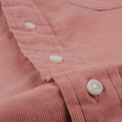 Corduroy Key Collar Shirt in Pink