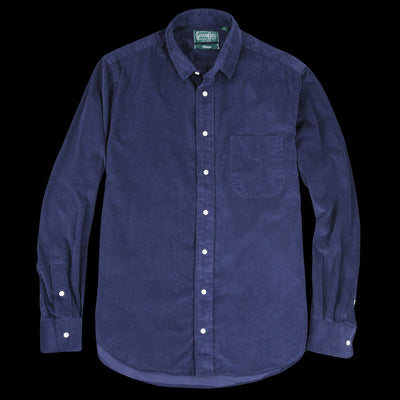 Gitman Vintage - Corduroy Key Collar Shirt in Navy