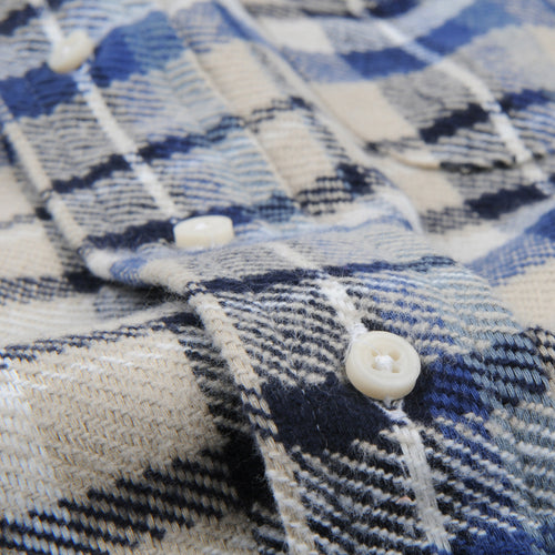 Triple Yarn Flannel Button Down Shirt Montana