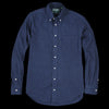 Gitman Vintage - Classic Flannel Button Down Shirt in Navy