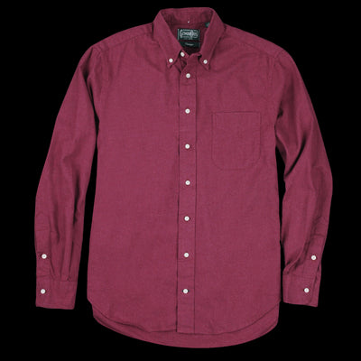 Gitman Vintage - Classic Flannel Button Down Shirt in Burgundy