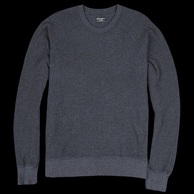 Homespun Knitwear - Dual Waffle Fisherman's Thermal in Charcoal