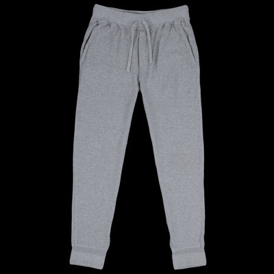 Homespun Knitwear - Dual Waffle Slim Pant in Grey