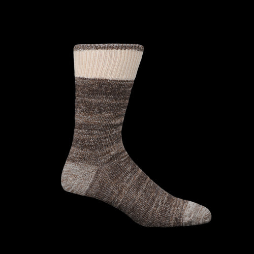 Cotton Wool Dustbowl Work Sock in Brown