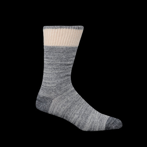 Cotton Wool Dustbowl Work Sock in Grey