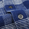 Corridor - Triple Check LS Shirt in Indigo Blue