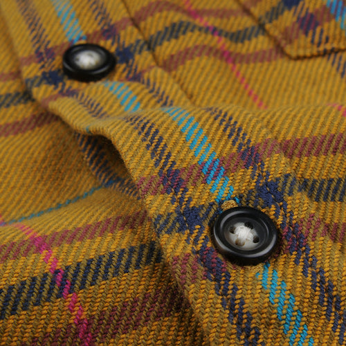 Autumn Plaid LS Shirt in Mustard