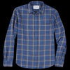 Corridor - Windowpane LS Shirt in Navy Brown