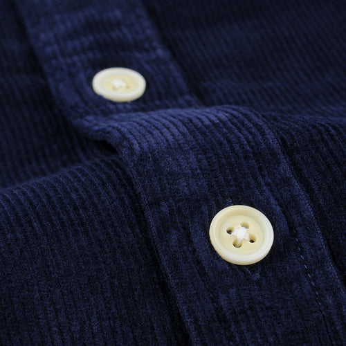 Cord LS Shirt in Navy