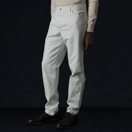 English Cotton Twill Jean in Undyed White