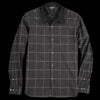 Eastlogue - Tab Collar Shirt in Black Wide Check