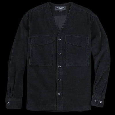 Eastlogue - Flak Shirt in Black Corduroy