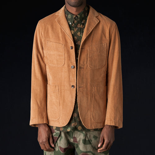 4 Pockets Jacket in Light Brown