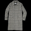 Eastlogue - Balmacaan Coat in Beige & Black Check