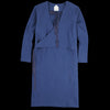 wrk-shp - Waffle Wrap Dress in Deep Blue