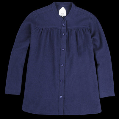 wrk-shp - Winter Wool Shirt in Navy
