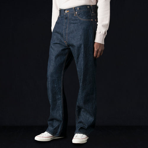 13.5oz Old Selvedge Denim Cinch Back Pant in Rinse