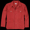 Chimala - Heavy Moleskin Hunting Jacket in Red