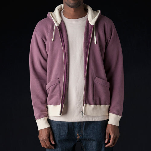 30/7 Fleece Hoodie in Wine