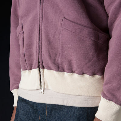 Chimala - 30/7 Fleece Hoodie in Wine