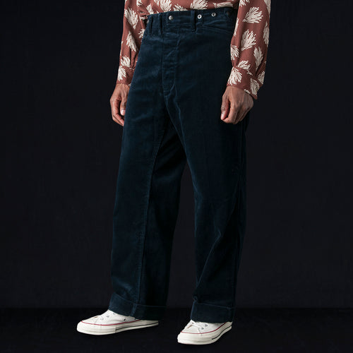 Heavy Corduroy Cinch-In Trouser in Navy