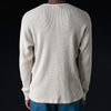 Chimala - 26/2 Open End Mix Waffle Henley in Light Top Grey