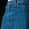 Chimala - 13.5oz Selvedge Denim 5 Pocket Work Denim in Dark Distress