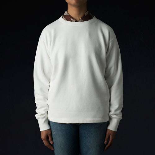 30/7 Fleece Sweatshirt in Off White