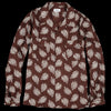 Chimala - Aloha Print Rayon Open Shirt in Brown