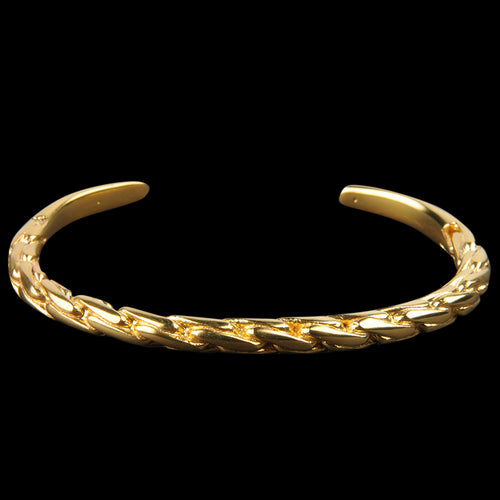 Braided Cuff in 22k Gold Plated Brass
