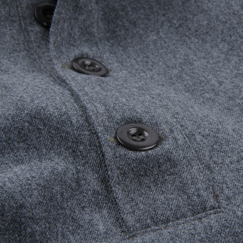 Wool Cotton Serge Toast Popover Jacket in Grey
