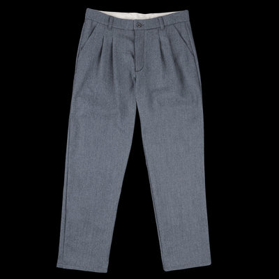Arpenteur - Wool Cotton Serge Service Pant in Grey