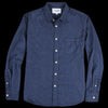 Corridor - Brushed Flecked Flannel LS Shirt in Navy