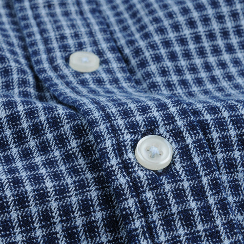 Mini Check LS Shirt in Indigo