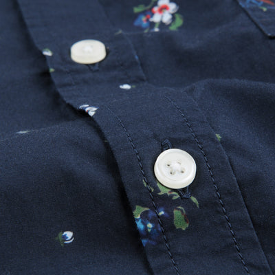 Corridor - Floral Broadcloth LS Shirt in Black