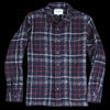 Corridor - Plaid Wool Overshirt in Navy & Red