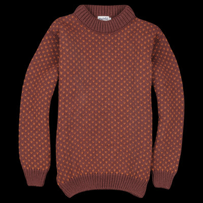 Devold - Nordsjø Crew Neck in Mars & Rust