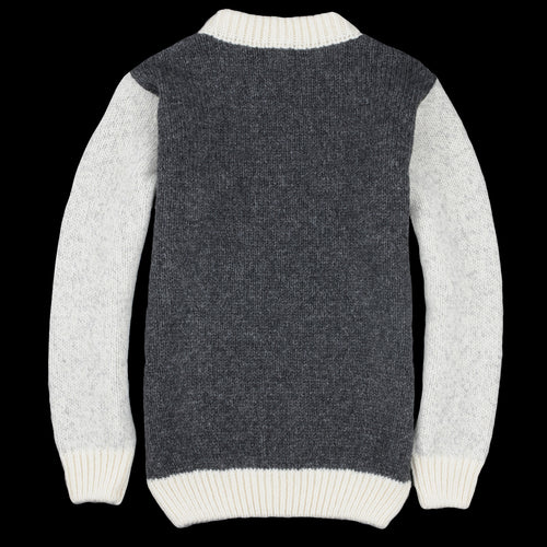 Nansen Crew Neck in Grey Anthracite & Off White
