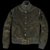 Golden Bear - Corduroy Button Front Bomber in Moss