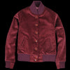 Golden Bear - Corduroy Button Front Bomber in Garnet
