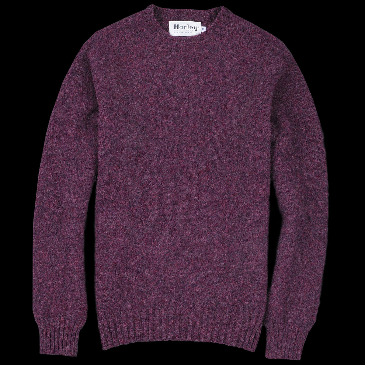 Harley Of Scotland For Unionmade Shetland Shaggy Crew Neck Sweater