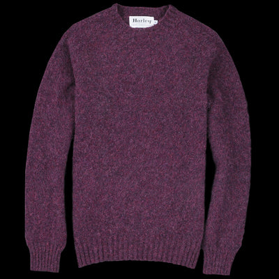 Harley of Scotland for Unionmade - Shetland Shaggy Crew Neck Sweater in Pagan