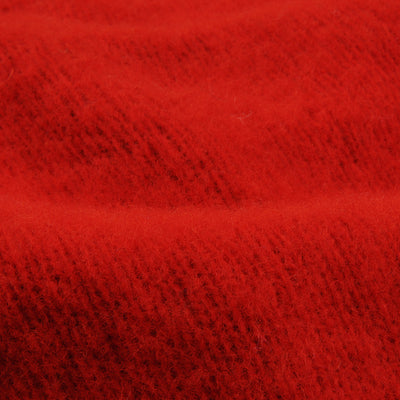 Harley of Scotland for Unionmade - Shetland Shaggy Crew Neck Sweater in Scarlet
