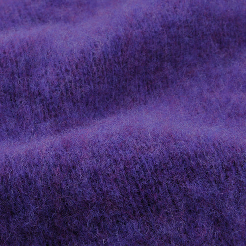 Shetland Shaggy Crew Neck Sweater in New Amethyst